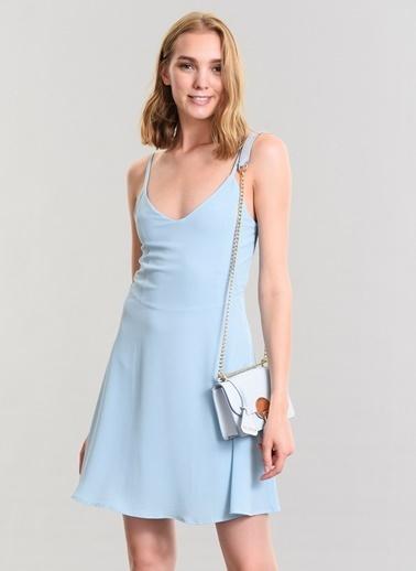 Agenda Bağlama Detaylı Elbise Mavi